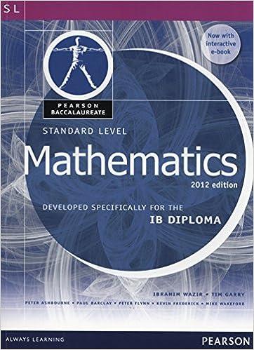 Buy Standard Level Mathematics, Pearson International Baccalaureate