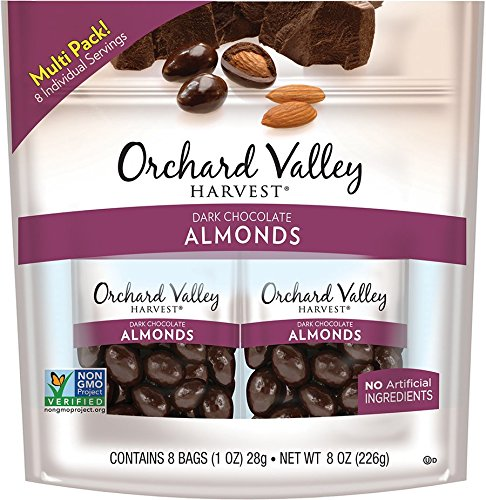 ORCHARD VALLEY HARVEST Dark Chocolate Almonds, 1 oz (Pack of ()