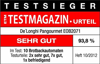 Delonghi Pangourmet EOB2071 Horno panificador, 1400 W, Acero Inoxidable, Negro: Amazon.es: Hogar
