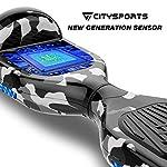 CITYSPORTS-Overboard-65-Pollici-Hover-Board-Bluetooth-Segway-Motor-700W-Auto-bilanciamento-con-Ruote-Flash-LED-Bambini-e-Ragazzi