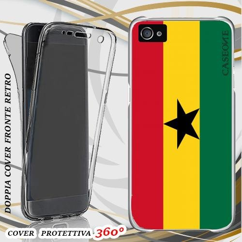 CUSTODIA COVER CASE GHANA PER IPHONE 4 FRONT BACK