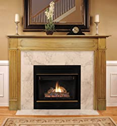 Pearl Mantels 110-50 Williamsburg Fireplace Mantel, 50-Inch, Unfinished by Pearl Mantels
