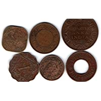 Collection House 6 Different Brititsh India Coins for Collection