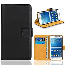 Galaxy Grand Prime Case, FoneExpert® Premium Leather Flip Bag Wallet Case Cover For Samsung Galaxy Grand Prime G530 G5308 (Black)