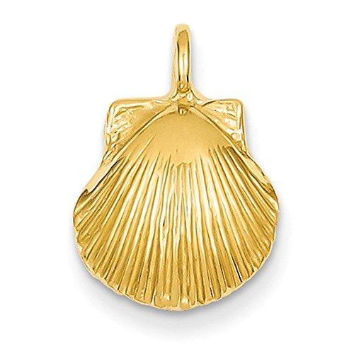 Lex & Lu 14k Yellow Gold Seashell Pendant ()