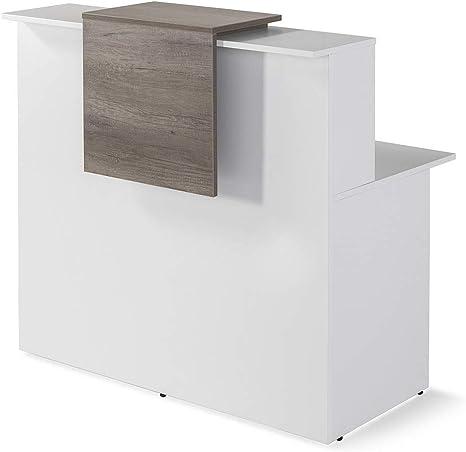 Mostrador De Recepcion Moderno De OFITURIA Color Blanco Perfecto Para Empresa y Oficina Con Entrega Inmediata 48-72H Medidas 1200x740x1150 MM: Amazon.es: Oficina y papelería