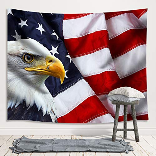 JAWO American Flag Tapestry, Stars and Stripes USA for sale  Delivered anywhere in USA