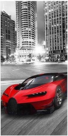 delle dimensioni di 70 x 140 cm telo da mare e bagno con motivo ad auto sportiva Super Car