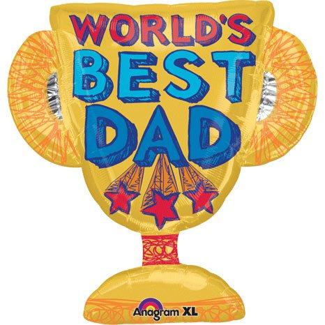 amscan Worlds Best Dad Trophy Shape 27