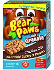 Bear Paws Dare Soft Granola Chocolate Chip Cookies, 168g Box, Contains 6 Pouches of Cookies, 168 Grams