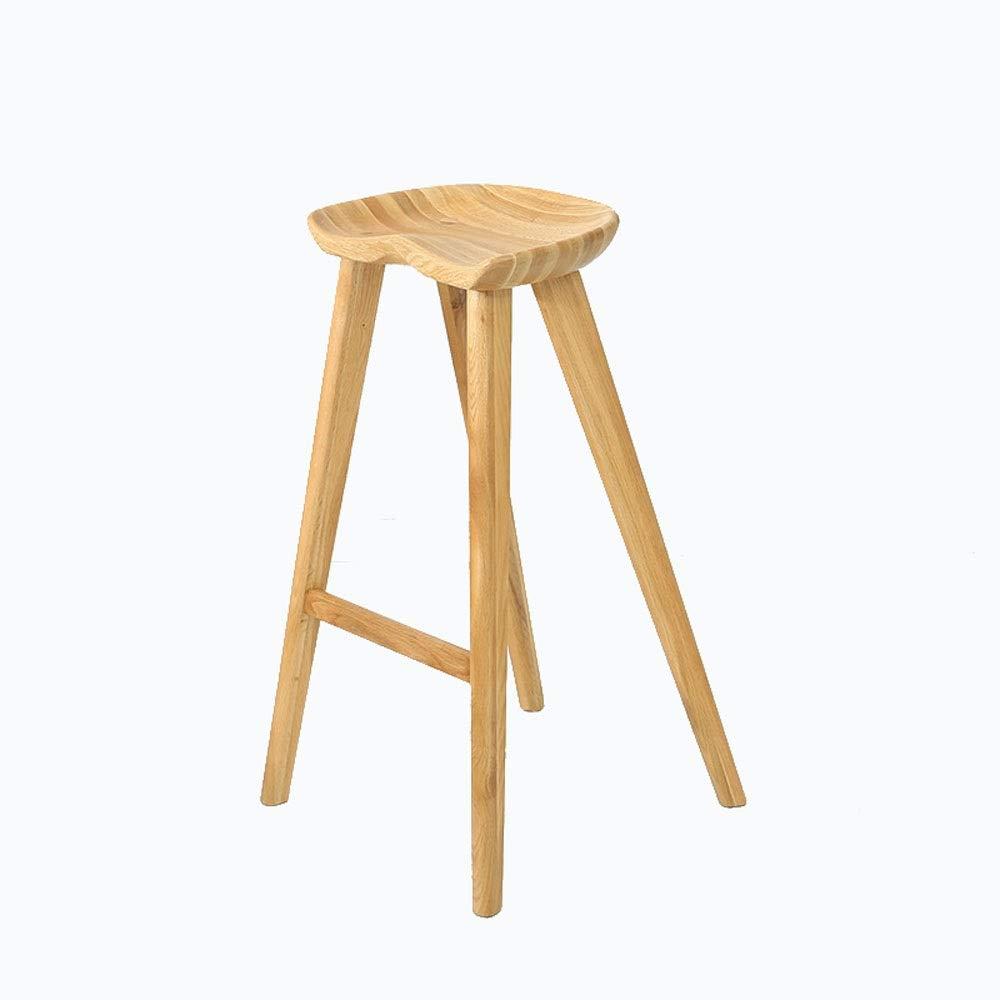 AO-stools Solid Wood Butt Stool High Stool Four-Foot Bar Stool Etc 80x48cm