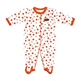 Two Feet Ahead NCAA Oklahoma State Cowboys Infant Polka Dot Footed Creeper Dress, 6 months, Orange