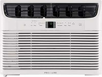 FRIGIDAIRE Energy Star 10,000 BTU 115V Window-Mounted Compact Air Conditioner with Full-Function Remote Control, White