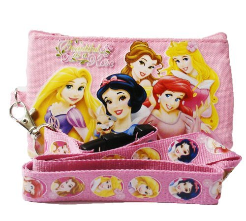 Princess Disney and Tangle Lanyard with Coin Purse 'Beautiful as a Rose