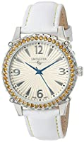 Swisstek Women's SK21406L Citrine/White Leather Watch