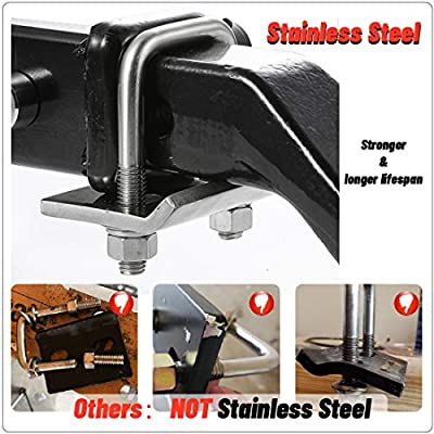 CZC AUTO Hitch Tightener 304 Stainless Steel Heavy Duty Anti-Rattle Stabilizer for1.25 2 Inch Hitch, Rust-Free Lock Down Hitch Stabilizer for Hitch Tray Cargo Carrier Bike Rack Trailer Ball Mount: Automotive