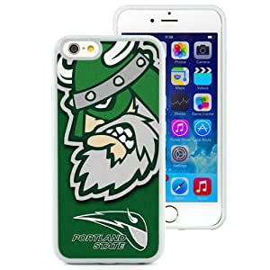 Beautiful Designed With NCAA Big Sky Conference Football Portland State Vikings 7 Protective Cell Phone Hardshell Cover Case For iPhone 6 4.7 Inch TPU Phone Case White