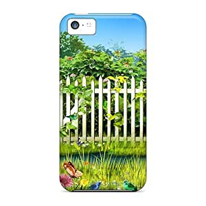 Excellent Iphone 5c Case Tpu Cover Back Skin Protector Spring Garden On Easter
