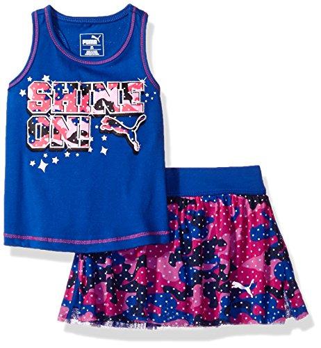 Girls Skort Set - PUMA Baby Girls Top & Tulle Skort Set, True Blue, 24M