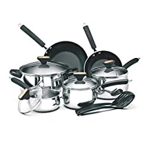 12-piece Stainless Steel Cookware Set, The Cookware Is Oven-Safe, Making The Transition From Stovetop To Oven Stress-Free