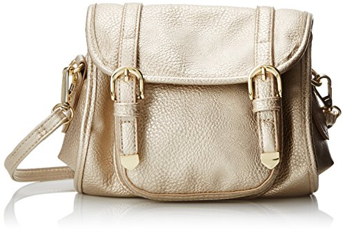 POVERTY FLATS by rian Softy Small Cross Body Bag, Gold, One Size (Flats Poverty)