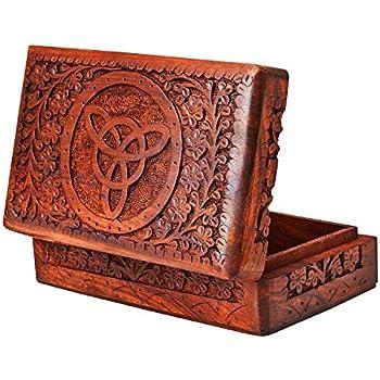 Handmade Decorative Wooden Jewelry Box Jewelry Organizer Keepsake Box  Treasure Chest Trinket Holder Watch Box Storage