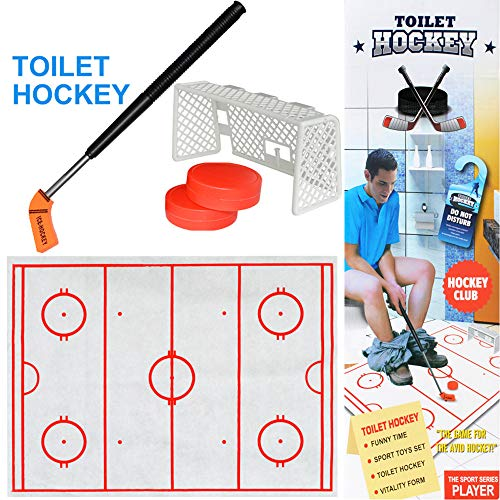 (Euone  Christmas, Toilet Hockey Game Decompression Fun Game Ice-Hockey Toy)