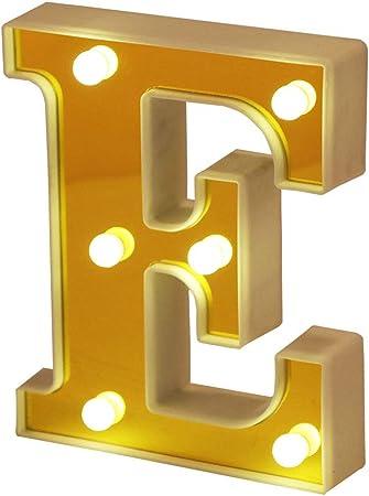 Ahat Nueva actualizaci/ón LED Marquesina Luces de letras Alfabeto N/úmero Se/ñal de encendido con control remoto G