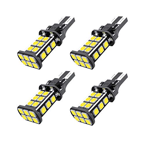 GZTC [2019 Upgraded] 912 921 LED Backup Light Bulbs High Power 3030 24-SMD Chipsets Extremely Bright Error Free T15 906 W16W for Back Up Lights Reverse Lights, 6500K White (Pack of 4) ...