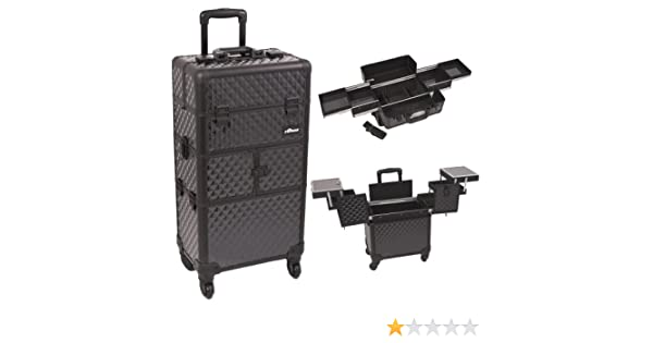 7ffd64833f Amazon.com  SunRise I3164 4-Slide Tray Diamond Trolley Makeup Case ...
