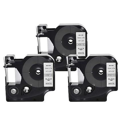 3x SZEHAM compatible DYMO D1 45013 S0720530 Cintas para impresoras ...