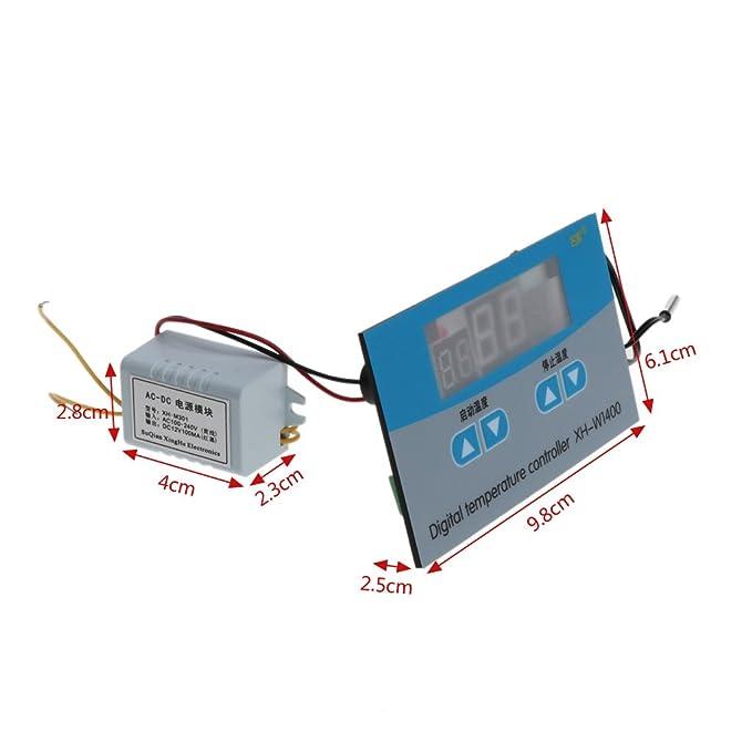 Amazon.com: Because0f 220V Digital Thermostat Temperature Controller ...
