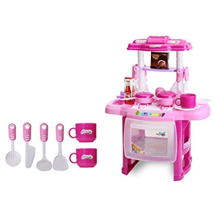 Amazon Com Kids Kitchen Cooking Pretend Simulation Role Play Toy