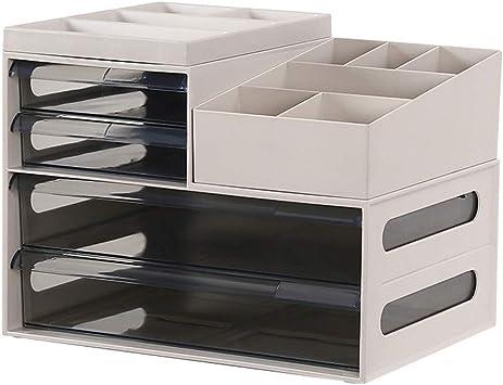 Gabinete de Almacenamiento de cajón de plástico de Escritorio de Oficina Caja de Almacenamiento de estantes de Oficina Caja de Almacenamiento de residuos de Archivos: Amazon.es: Electrónica