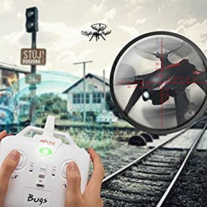 sea jump MJX B3 BRUSHLESS MOTOR Quadcopter Drone UAV Aircraft RC Quadcopter, High Capacity Battery RTF Brushless Drone with Camera-Support GoPro HERO Cameras and Sports Cameras by China