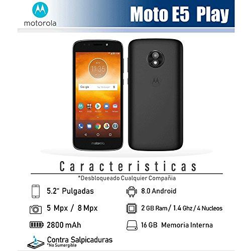 Virgin Mobile Moto e5 Play 5.2 HD Touchscreen, 16gb ROM, 2gb ram Prepaid Phone