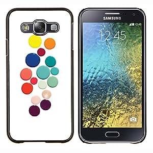 Stuss Case / Funda Carcasa protectora - Color Blanco puntos de colores - Samsung Galaxy E5 E500