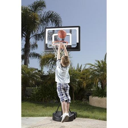 7' Adjustable Shatterproof Polycarbonate Basketball System, Black