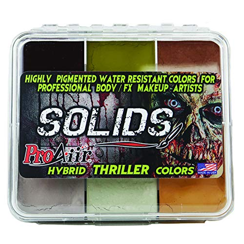 ProAiir SOLIDS Water Resistant Makeup Palette Thriller Zombie Colors by ShowOffs Body Art