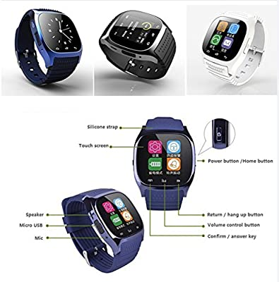 Original M26 reloj inteligente SmartWatch Android azul: Amazon.es ...