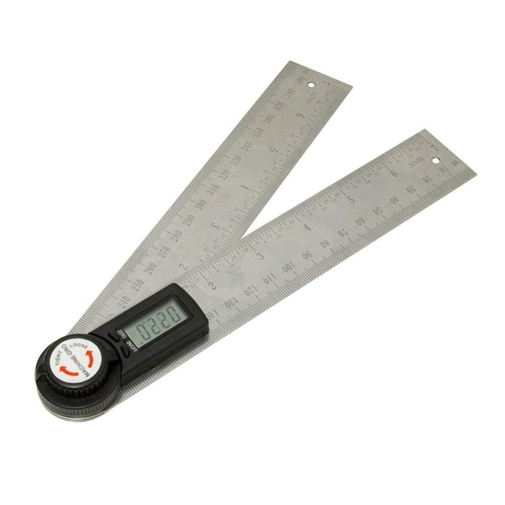 SODIAL 200mm 8 inch Digital Angle Ruler Readout Gauge