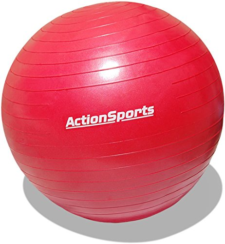 Action Sports Anti-burst Exercise Stability Ball with Pump (Red (75 cm))