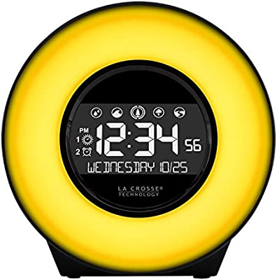 La Crosse Technology Color Mood Light Alarm Clock with Nature Sounds C85135