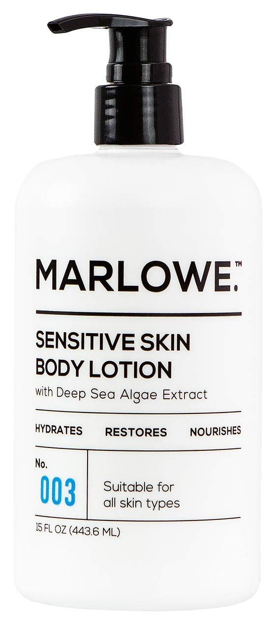 MARLOWE. No. 003 Sensitive Skin Body Lotion 15 oz   Moisturizing, Fragrance-Free, Natural Lotion for Dry Skin by MARLOWE. M BLEND
