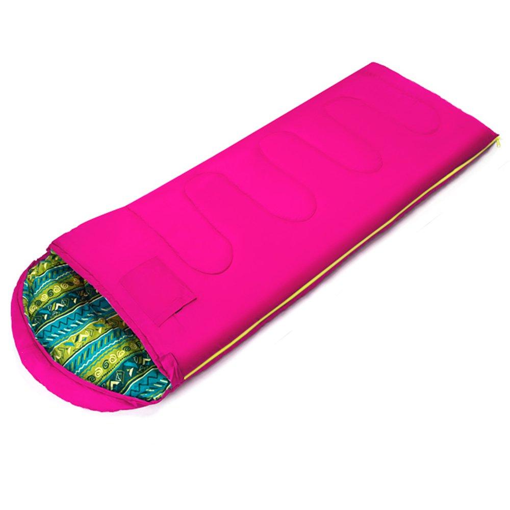 LJHA shuidai エンベロープ寝袋/大人/アウトドアキャンプハイキング/コットン長方形寝袋(2色展開可)(180 + 30)* 75cm (色 : Pink) B07FDC3GS5  Pink