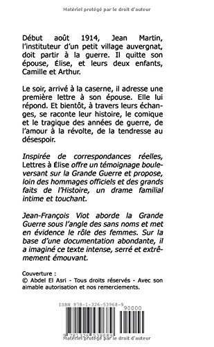Lettres A Elise Amazones Jean Francois Viot Libros En