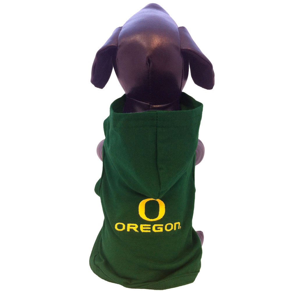 NCAA Oregon Ducks Cotton Lycra Hooded Dog Shirt, Small by All Star Dogs