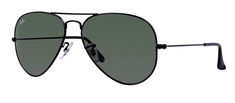 5548962459c Amazon.com  Ray Ban RB3025 L2823 58 Black Gray Green Large Aviator  Sunglasses Bundle-2 Items  Shoes