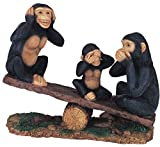 Monkey Family Collectible Wildlife Animal Figurine Statue Sculpture