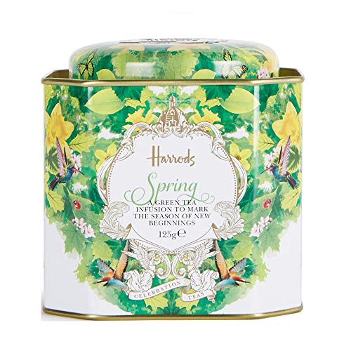 Harrods London, Spring Celebration 125g Loose Tea presented in a Tin Caddy (1 Pack) Usa Stock